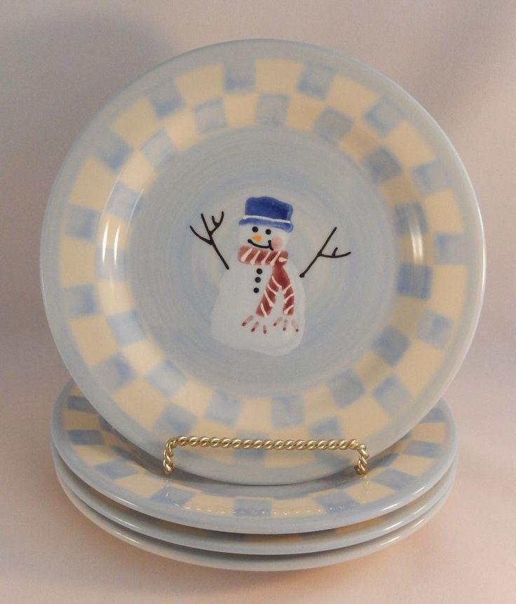 Hartstone Pottery Snow People Salad Plates Snowman Christmas USA Lot of 4 # Hartstone & 131 best Hartstone Pottery images on Pinterest | Columbus ohio ...