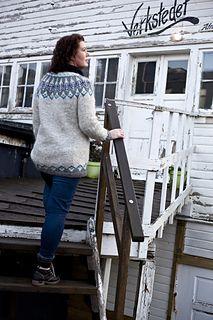 Vigdis is inspired by traditional Icelandic circular yoke sweaters.