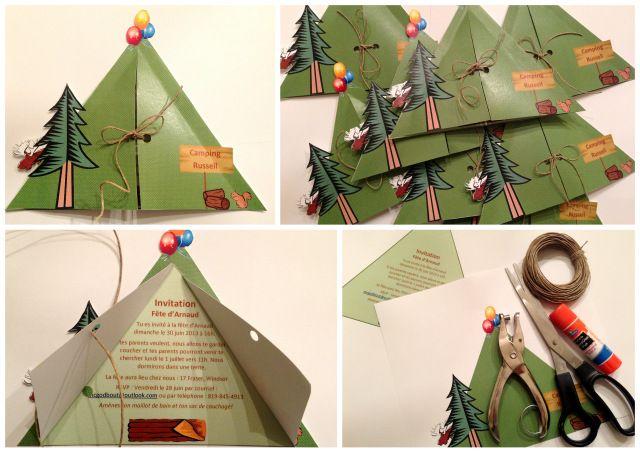 Wooloo   Une fête d'enfants sous le thème du Camping #camping #invitations