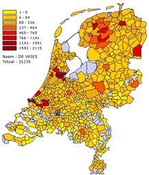 Op zoek naar Belgen in Tilburg: aantal en spreiding van familienamen in België en Nederland.