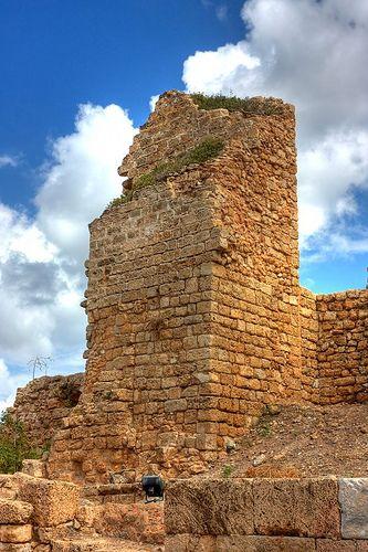 Crusaders fortress in Caesarea, Israel
