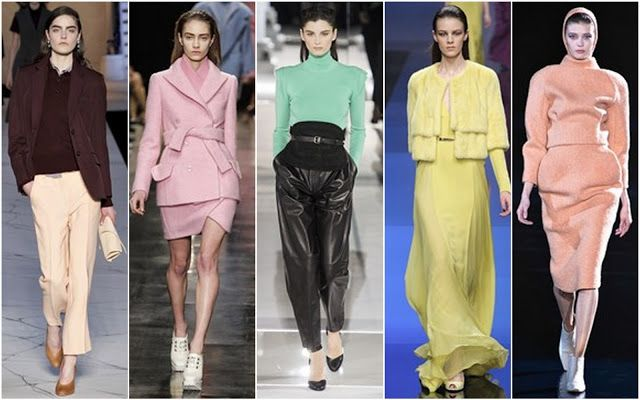 Pastel Shades. Pastel hues came in mint, lilac and lemon from Mugler, Elie Saab and Vionnet.