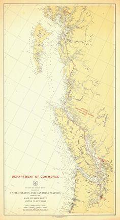 Best Pacific Northwest Alaska Nautical Maps Images On - Map of us including alaska