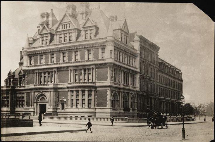 Cornelius Vanderbilt's mansion at 5th Avenue and 57th Street. 1885