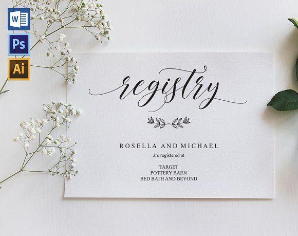 Registry Cards Editable Shr463 Wedding Registry Cards Registry Cards Wedding Registry