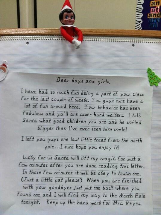 Elf on the Shelf Letter
