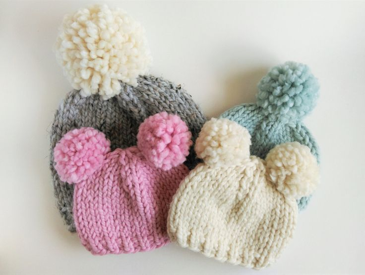 Knit Pom Pom Hat Pattern : Best 20+ Knitted hat patterns ideas on Pinterest Knit ...