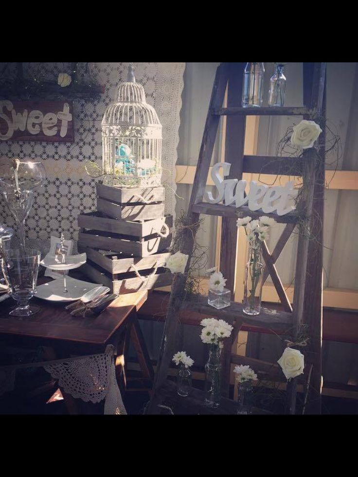 Rustic lolly bar by vintage La Belle