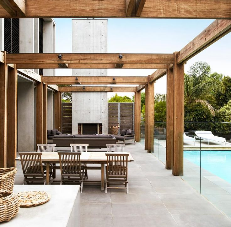 great outdoor living space - rob-mills_sorrento_interior-design-melbourne_australian-architecture