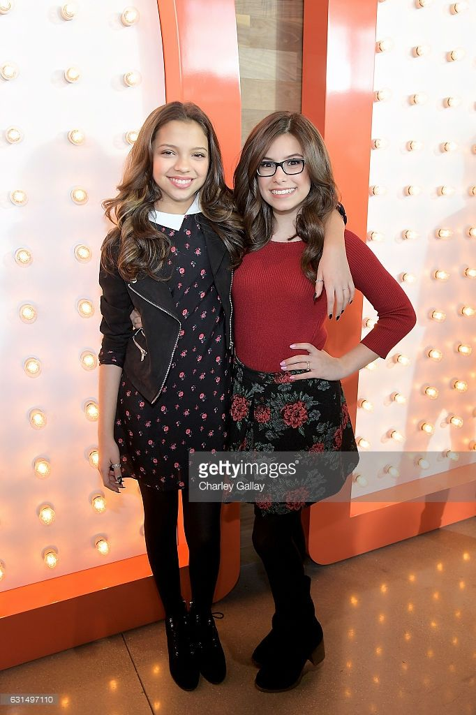 Actresses Cree Cicchino (L) and Madisyn Shipman from Game Shakers attend the Ribbon Cutting Ceremony to celebrate the Grand Opening of Nickelodeon's State-of-the-Art Complex on January 11, 2017 in Los Angeles, California.