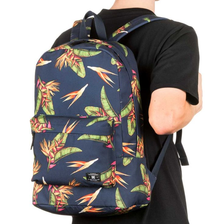 Description:   The The DC Bunker Print Backpack features a 18.5 litre capacity, all over print, zip fastened compartments and a reinforced base. DC was founded in 1993 by Ken Block and Damon Way, and is based in Vista, California. DC m