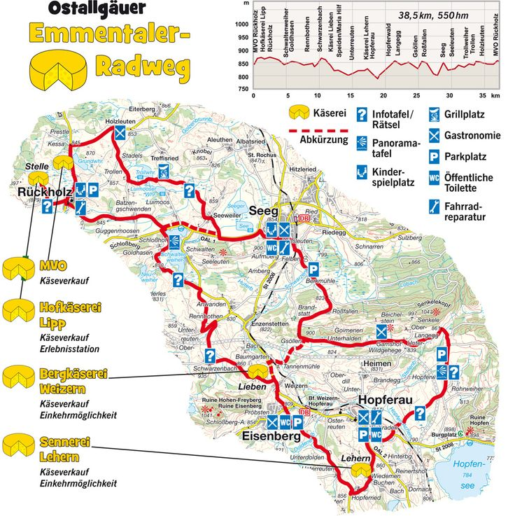 Emmental Radweg Radwanderweg: Karte Emmentaler Radweg