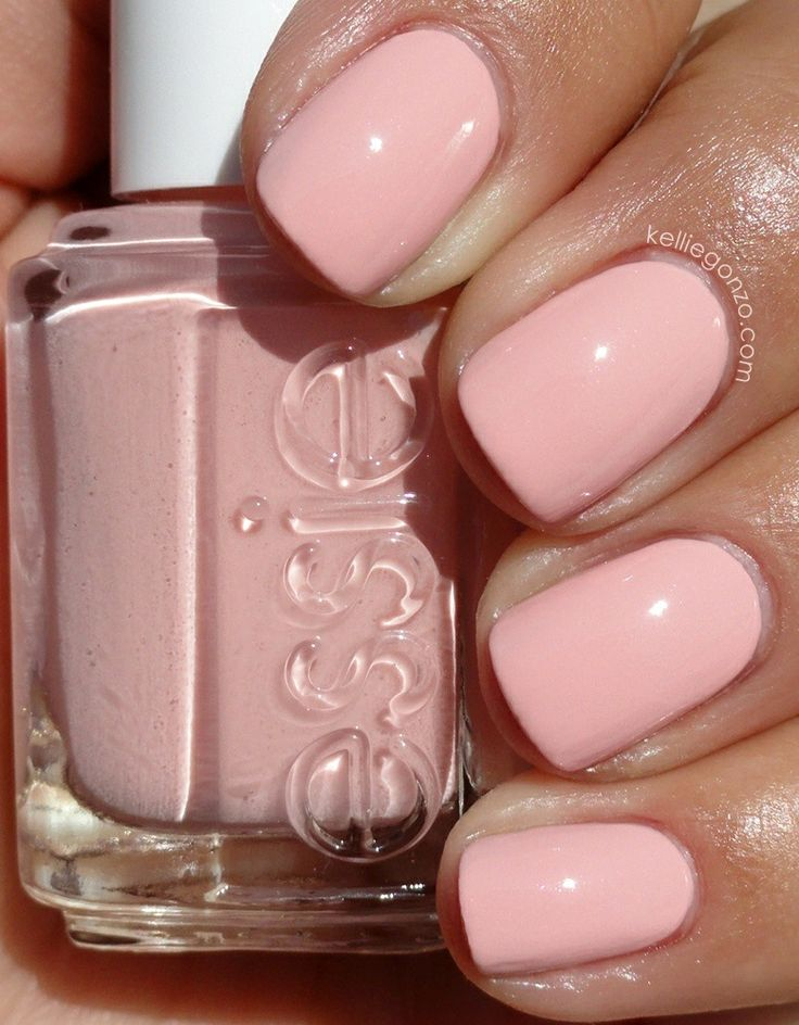 Essie | Like to be bad | pastel pale pink nails | Nails ...