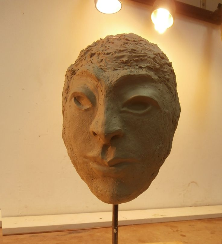 SherLizz: Stylistic Face in the making Summer 2014 -drying stage - to be fired soon -