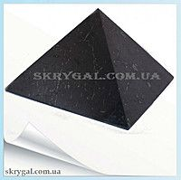 Пирамида шунгитовая 6*6 шунгитовый гармонизатор, шунгит камень, камень натуральный