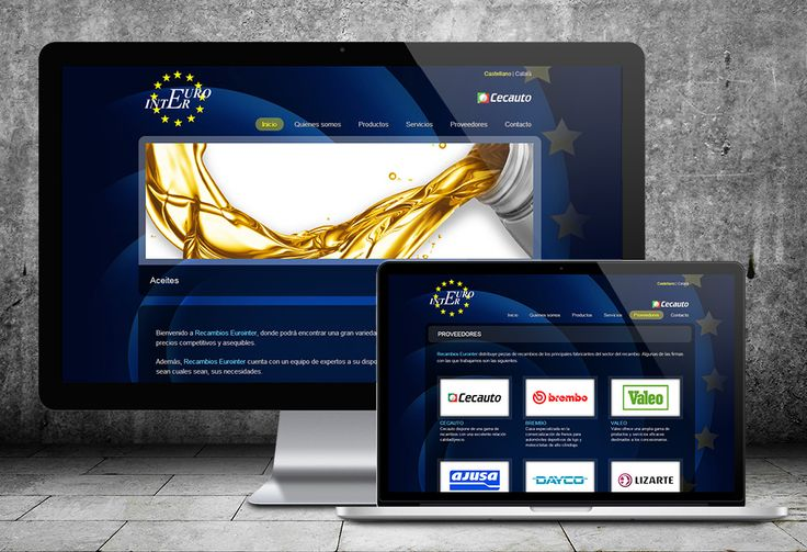 Diseño de página web Eurointer By Dolphin Tecnologías