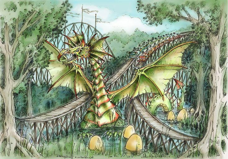 Het verhaal van Joris en de Draak is het thema van de houten achtbaan van Attractiepark De Efteling.  De opening vond plaats op 1 juli 2010.
