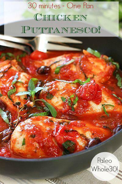 30 Minute Chicken Puttanesca!