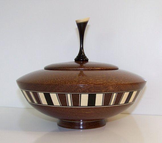 Brazilian Ebony Wooden Bowl with Lid 591