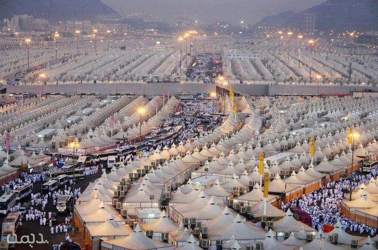 Hajj. Les tentes de Mina lors du pèlerinage à la Mecque