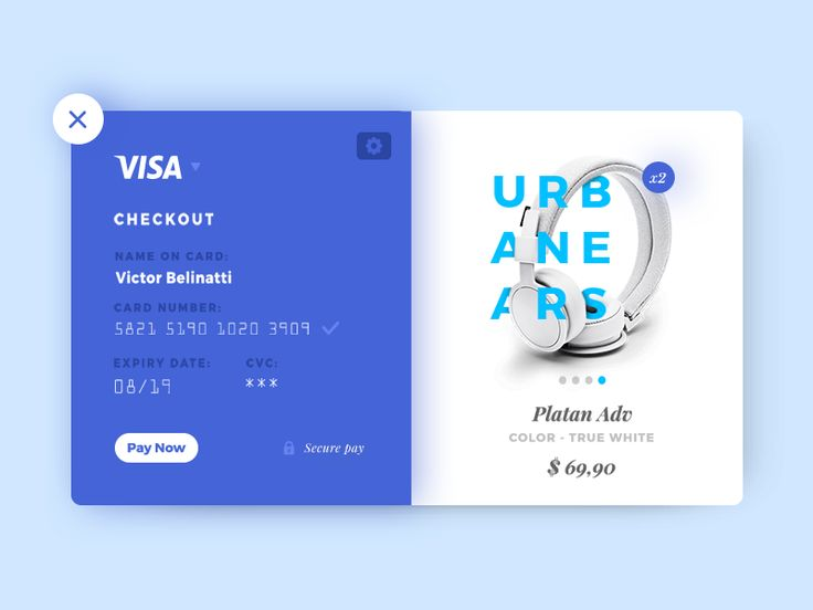 Credit Card Checkout, all in blue!  I hope you guys enjoy it!. If you like UX, design, or design thinking, check out theuxblog.com