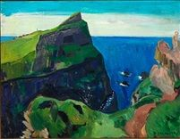 Fra Mykineshólmur From Mykineshólmur the Faroe Islands by Samuel Joensen Mikines