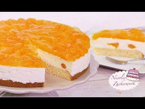 Mandarinen-Joghurt-Torte I frisch und fruchtig I Rezept von Nicoles Zuckerwerk - YouTube