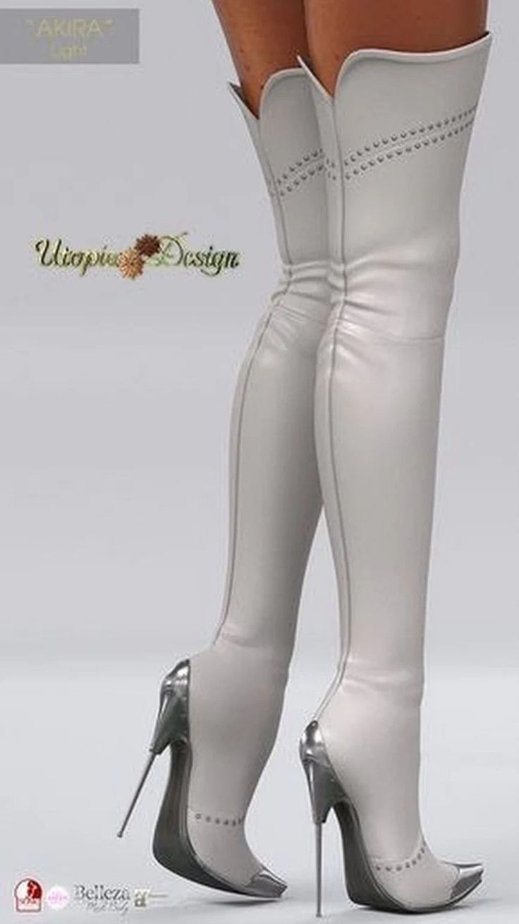 ce69f5a9b9b Extra high thigh high off white stiletto boots