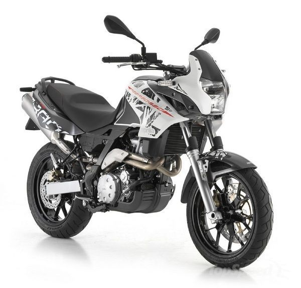 Naturally the center piece of the 2012 Aprilia Pegaso 650 is its modern, four-valve, dry sump engine which is fitted with electronic fuel in...
