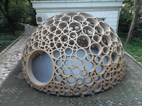 """And now we have a million ideas for what we should do with all those heavy-duty cardboard tubes we've been saving.     Hubby would ask """"We?"""""""