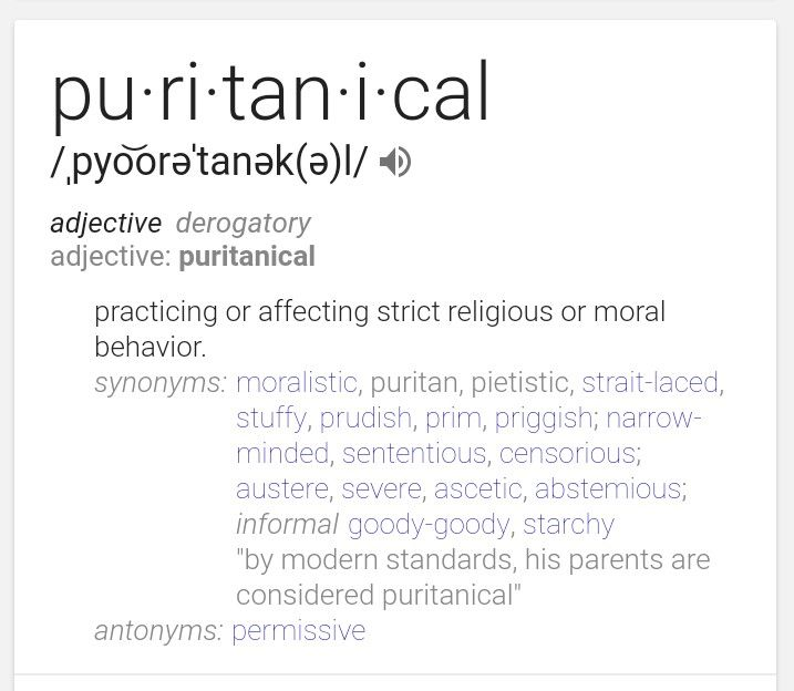 Prudish definition