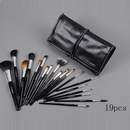 mac 19pcs brush sets with black pouch online