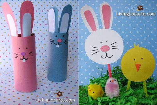 Manualidades infantiles de Pascua: Manualidades De Pascua, Crafts With, Conejos Con, Rabbits, For, Children'S Crafts, Para Pascuas, Para Nene, Crafts