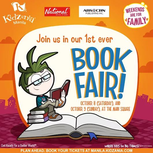 Calling all kids and bookworms!  Join the first ever KidZania Manila BOOK FAIR together with National Book Store and ABS-CBN Publishing on October 8 - 9, 2016 (Saturday and Sunday).  Get up to 20% OFF on books and up to 10% OFF on stationery and gift items!  For more infromation, VISIT manila.kidzania.com  For more promo deals, VISIT http://mypromo.com.ph/! SUBSCRIPTION IS FREE! Please SHARE MyPromo Online Page to your friends to enjoy promo deals!