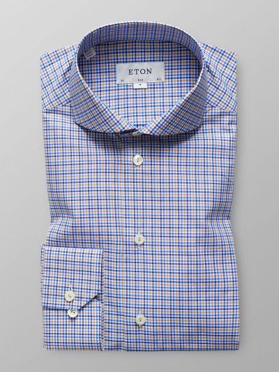 Brown & Blue Check Shirt