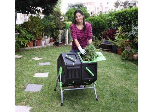 Composteur rotatif 2 compartiments 140 L - Jardin et Saisons