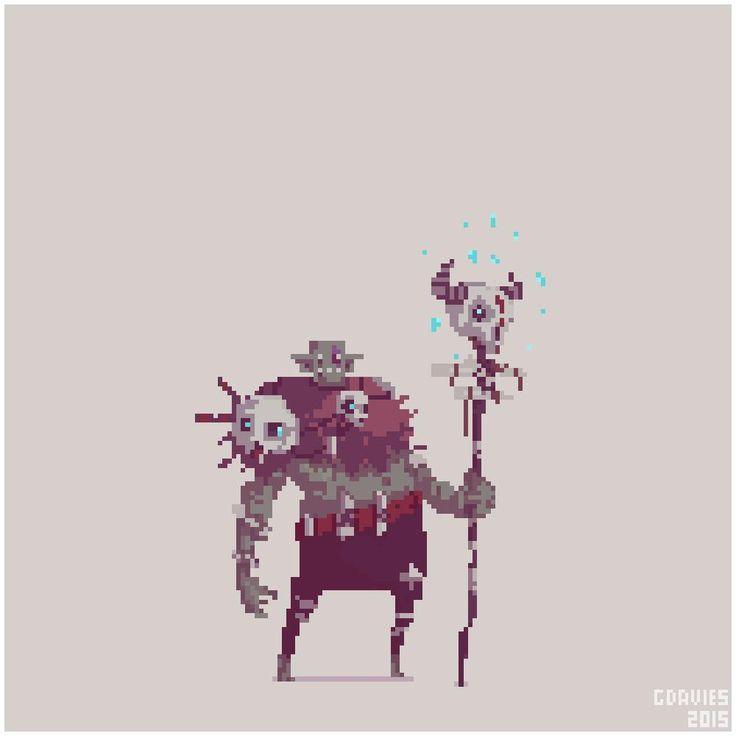 Orc shaman for #pixel_dailies @Pixel_Dailies #conceptart