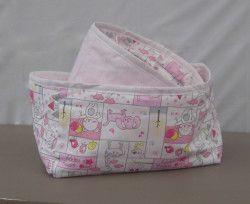 Nursery Cats Dogs & Bears storage baskets, set of 2