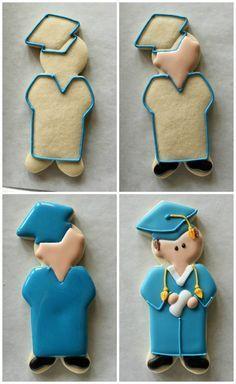 Resultado de imagen para decoracion galletas de azucar de graduacion