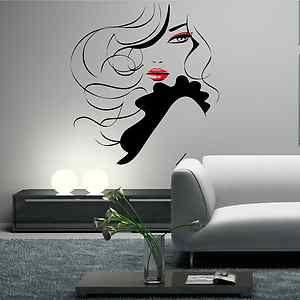 hair stylist pinup | PIN UP Girl Women Modern Hair Salon Wall Sticker Decal Mural Transfer ...