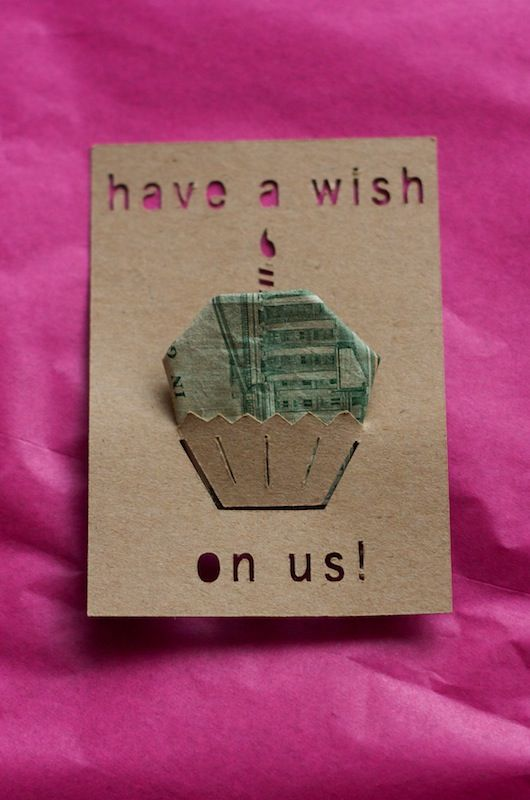My dollar bill origami ideas are getting stale.. love this idea..
