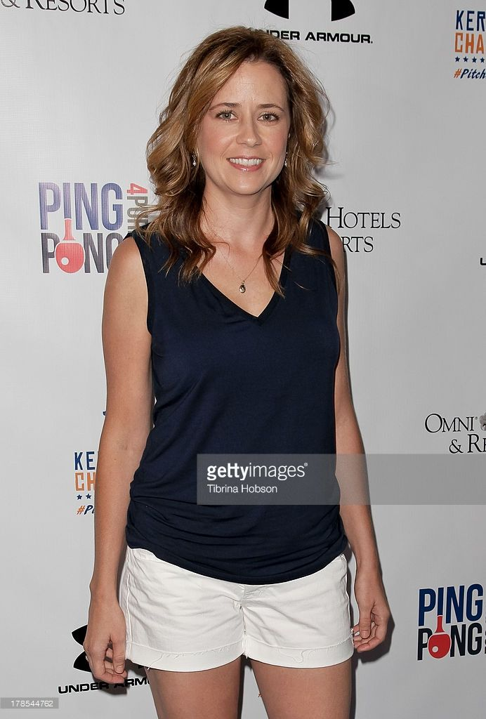 Jenna Fischer attends Clayton Kershaw's inaugural ping pong 4 purpose charity event benefitting 'Kershaw's Challenge' at Dodger Stadium on August 29, 2013 in Los Angeles, California.