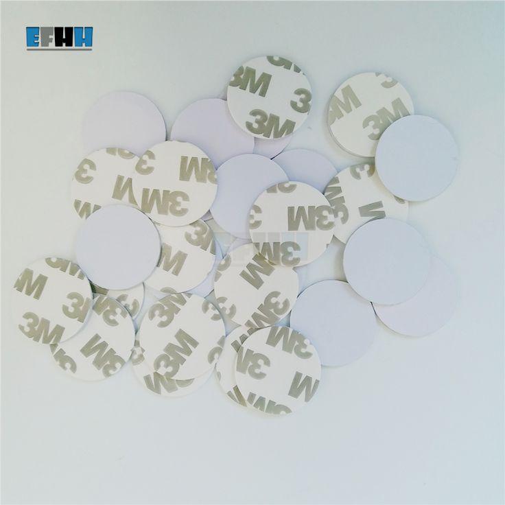 125 KHZ EM4305/EM4205 Yeniden Yazılabilir RFID Para Kart Ile 3 M Adhensive Sticker Yılında Erişim Kontrol Kartı (Çapı 25mm)