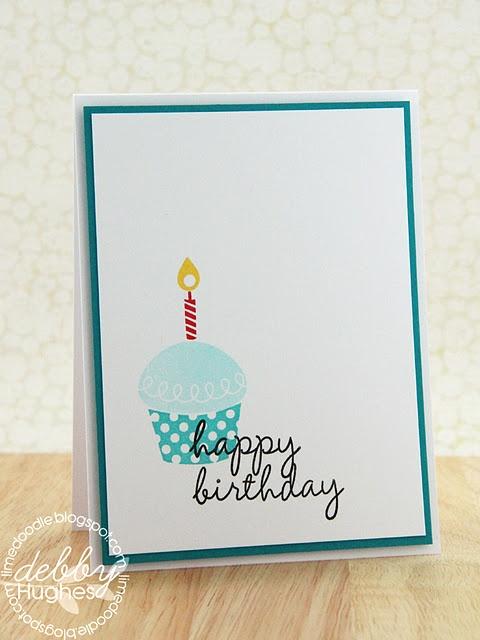 Oh so yummy! birthday card Lime Doodle