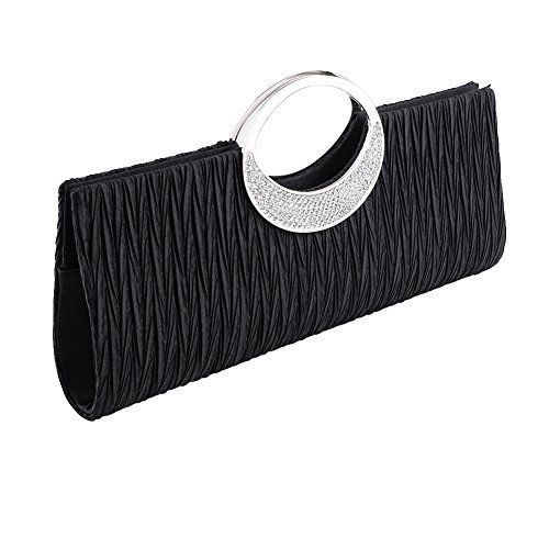 New Trending Clutch Bags: Jubileens Womens Shoulder Clutch Bag Rhinestone Evening Party Purse(Black). Jubileens Women's Shoulder Clutch Bag Rhinestone Evening Party Purse(Black)  Special Offer: $13.69  422 Reviews Specifications: Color: Black / White / Blue / Silver / Coffee / Champagne Material: Satin  Rhinestones Size: 28 x 5 x 12cm Use: Clutch Handbag/Shoulder Chain...