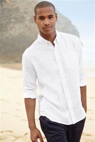 Buy Long Sleeve Linen Shirt from the Next UK online shop