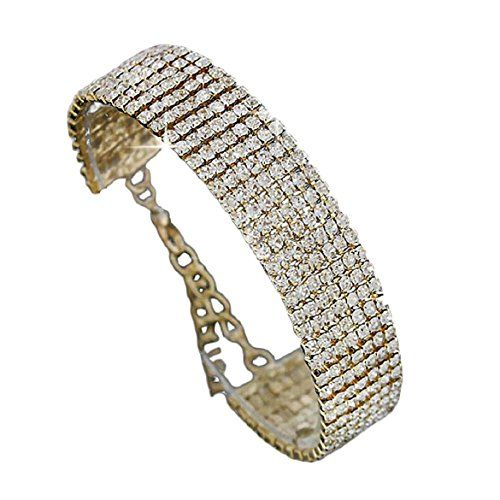 SusenstoneCrystal Rhinestone Bracelet Bangle  Wedding Bridal Wristband.More info for beautiful anklets;stores that sell anklets;buy anklets online;anklet online purchase;silver anklets online could be found at the image url.(This is an Amazon affiliate link and I receive a commission for the sales)