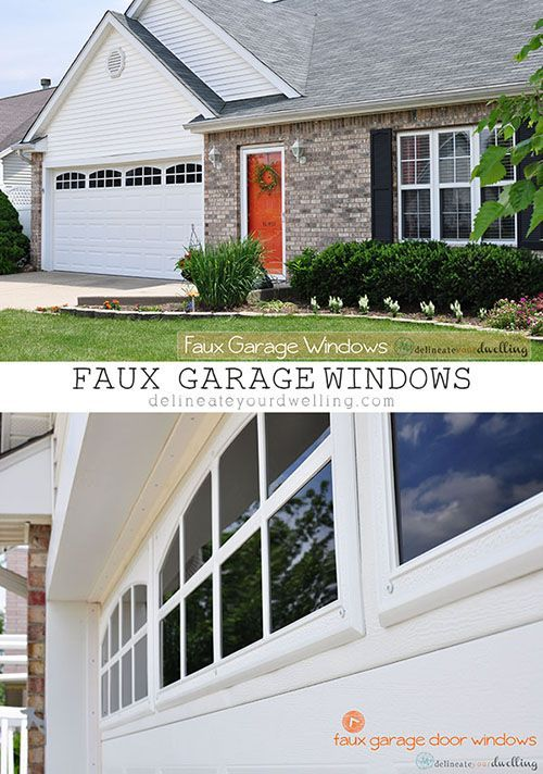 Installing INEXPENSIVE Faux Garage Door Windows! You will be surprised how real they look. Delineate Your Dwelling