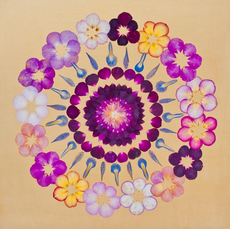 Bild aus Brautstrauss - bunte Rosen 70 x 70