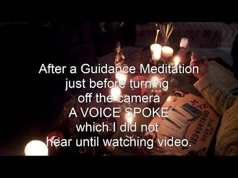 VOICE caught on video!  Paranormal, Divination, Spiritual Meditation and Book of Secrets!